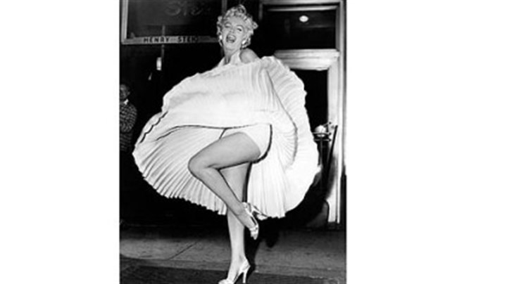 "Marilyn Monroe in 'The Seven Year Itch' A publicity photo for ""The Seven Year Itch"" (1955), in which she enjoyed a blast of steam from a subway on Lexington Avenue at 52nd Street in Manhattan."