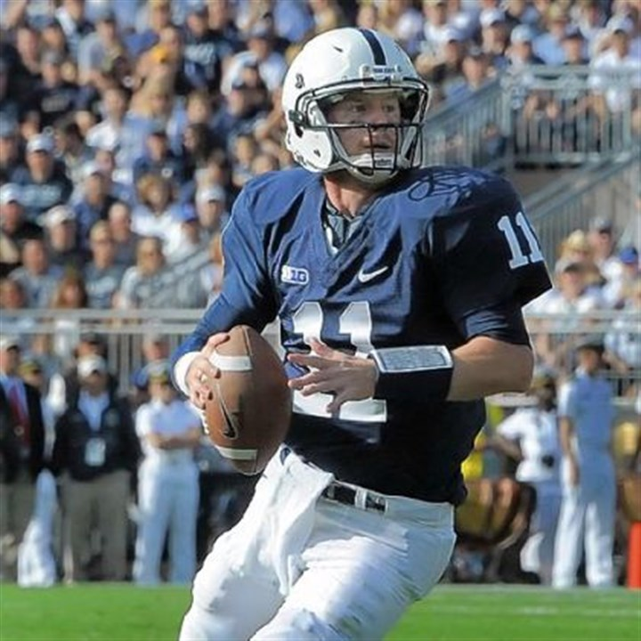 "mcgloin Penn State quarterback Matt McGloin leads a fast-paced, no-huddle offense the Nittany Lions have dubbed ""NASCAR."""