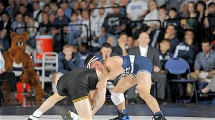 Megaludis Penn State's Nico Megaludis, right, a Franklin Regional High School graduate, is ranked No. 2 in the country at 125 pounds.