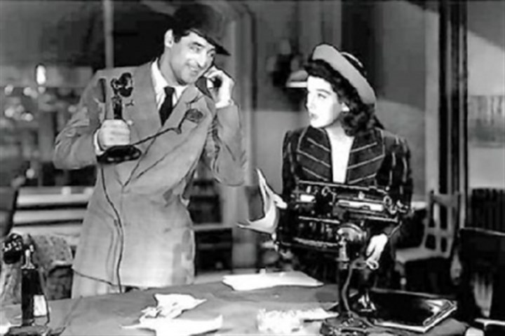 "morning file It's just like ""His Girl Friday"" around here."