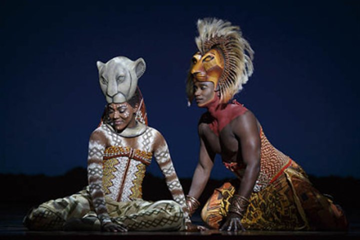 "Nala and Simba in ""The Lion King"" Nia Holloway portrays Nala and Jelani Remy is Simba in the national touring company of ""The Lion King,"" at Bendum Center through Sept. 29."