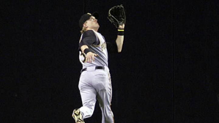 Nate McLouth Pirates centerfielder Nate McLouth tracks down a deep fly off the bat of San Diego Padres' Luis Rodriguez in the first inning of last night's game in San Diego. (AP Photo/Lenny Ignelzi)
