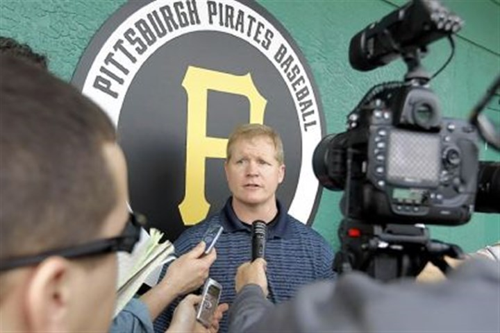 Neal Huntington meets media Pirates general manager Neal Huntington meets the media before the first day of baseball's spring training workouts for pitchers and catchers on Feb. 19, 2012.