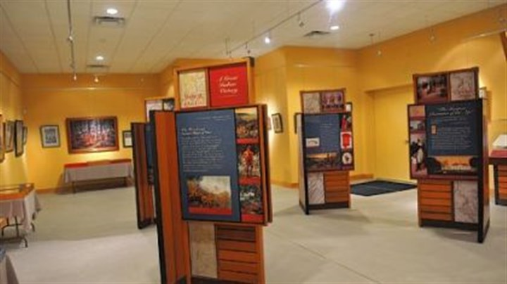 New museum in Braddock George Washington's journals on display at the Braddock's Battlefield History Center.