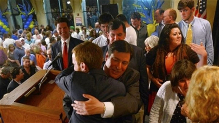 newly elected Bill Peduto Bill Peduto, Democratic candidate for mayor, hugs longtime chief of staff Dan Gilman after giving a victory speech on the South Side. Mr. Gilman won his race to replace Mr. Peduto on City Council.