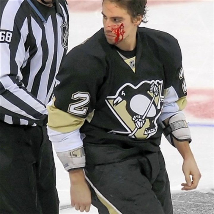 niskanen Winger Kyle Okposo bloodied Penguins defenseman Matt Niskanen in a second-period fight that helped light a fire under the Islanders.