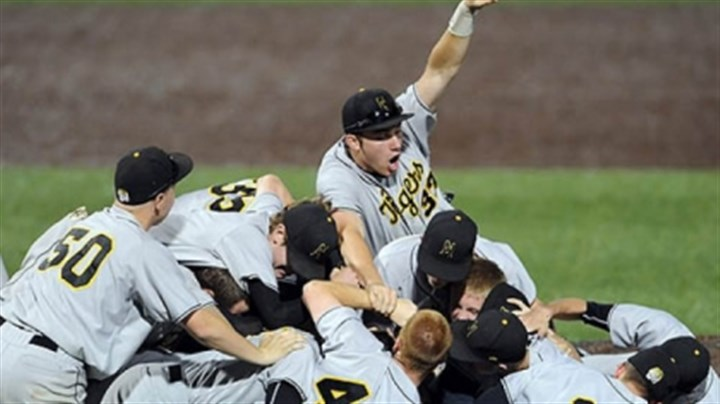 North Allegheny North Allegheny teammates celebrate after defeating Seneca Valley in the WPIAL class AAAA baseball championship at Consol Energy Park Wednesday night.