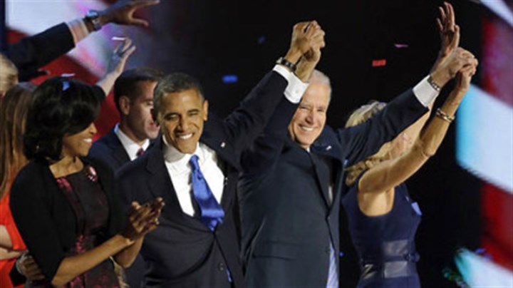 obamas and bidens celebrate