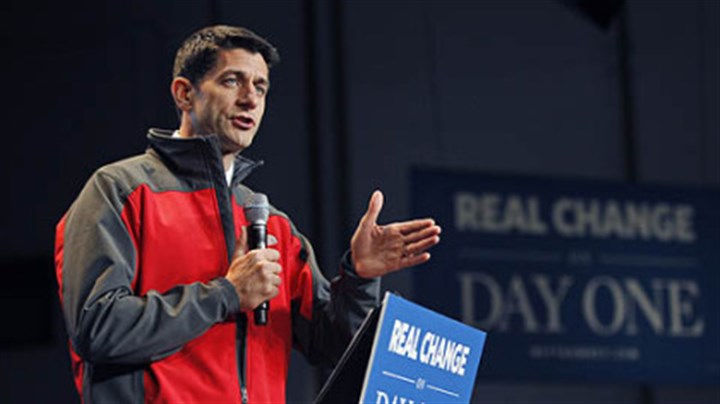 Paul Ryan Paul Ryan speaks during a campaign event at Harrisburg International airport Saturday in Middletown, Pa.