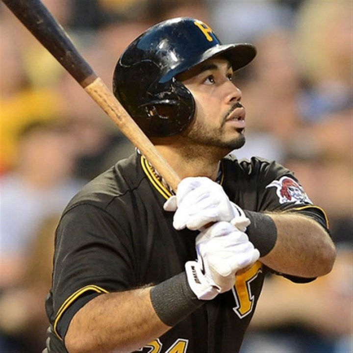 Pedro Alvarez Pirates third baseman Pedro Alvarez watches his three-run homer exit the park over the center field wall in the bottom of the fifth against the Phillies at PNC Park.