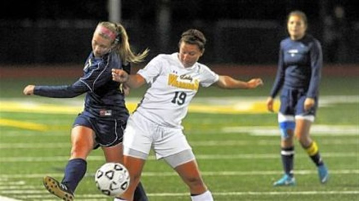 Penn-Trafford Penn-Trafford's Miranda Johnson, right, blocks Norwin's Kensey Johnson from a scoring chance.