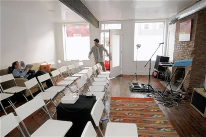 Performance space At The Carnegie Museum of Art apartment, or CI13, a performance space has been set up.