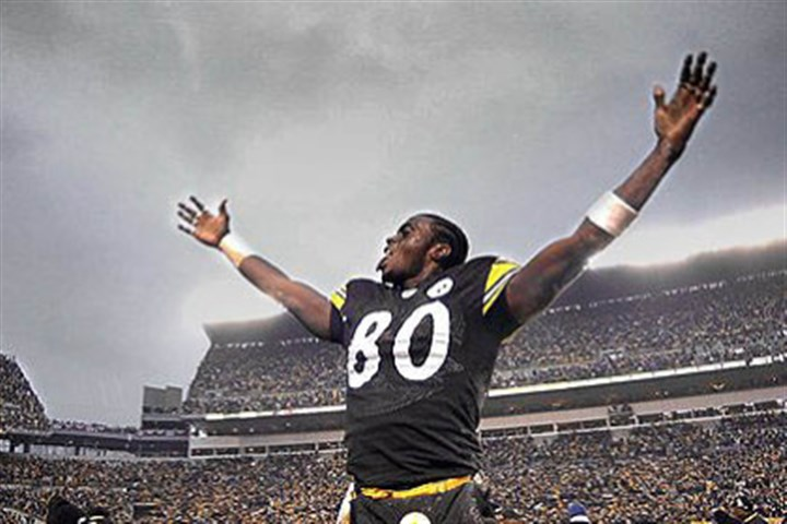 plaxico file photo In this 2003 file photo, Plaxico Burress celebrates after the team beat Cleveland Browns in a come-from-behind playoff game at Heinz Field.
