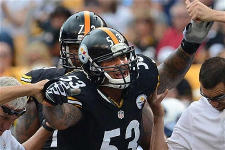 pouncey injured Steelers center Maurkice Pouncey grimaces as he is helped off the field after injuring his knee during Sunday's game.