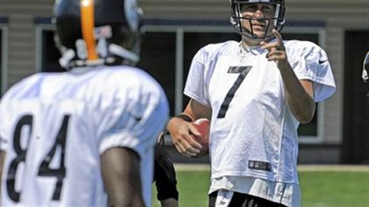 roethlisberger Ben Roethlisberger, right, makes a point with receiver Antonio Brown Wednesday in practice at the team's South Side facility. The receiving corps can expect to be challenged Sunday by a tough Jets secondary.