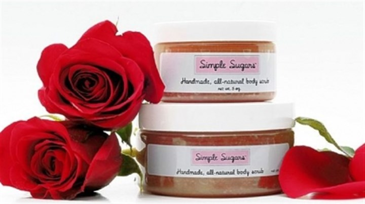 Rose Simple Sugars body scrub The line's Rose Body Scrub comes in 5- and 8-ounce sizes for $15 and $22, respectively (simplesugarsscrub.com).