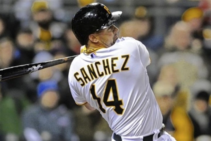 Sanchez Gaby Sanchez's two home runs Monday night were important because they came against right-handed pitchers.