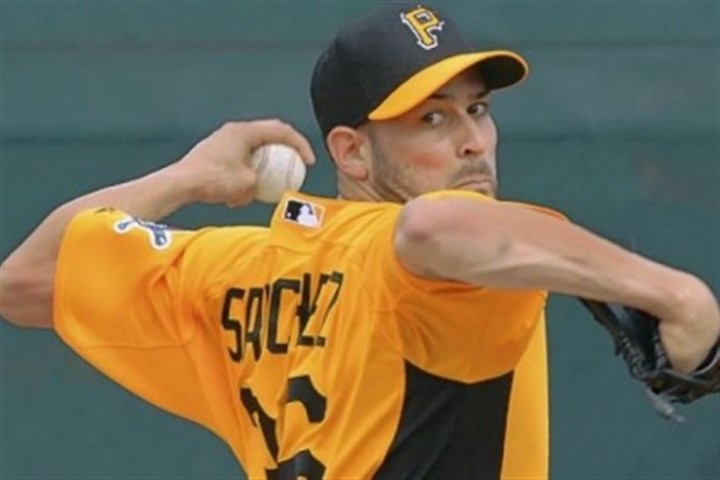 Sanchez Newcomer Jonathan Sanchez took his first turn on a mound Wednesday at Pirate City in Bradenton, Fla.