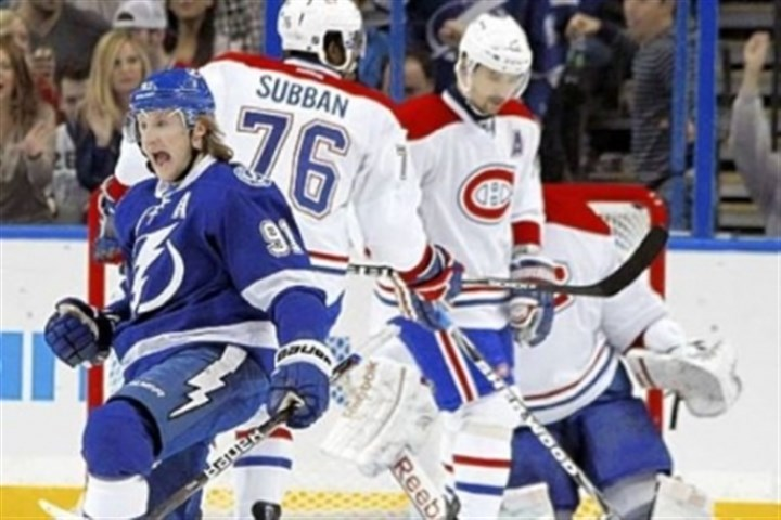 Stamkos Tampa Bay Lightning center Steven Stamkos is among the NHL leaders in scoring this season.