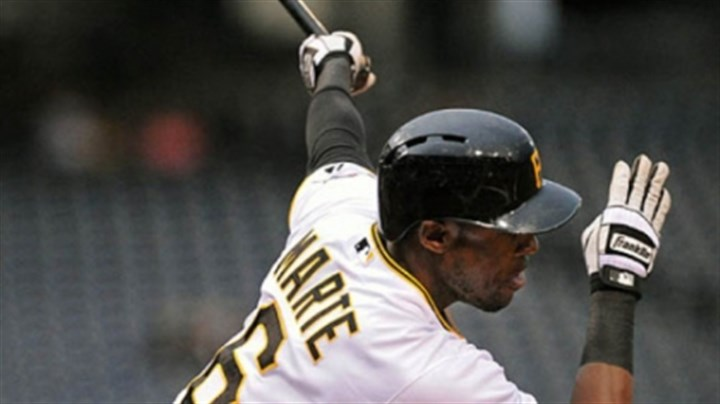 Starling Marte The Pirates' Starling Marte gets a hit in a 1-0 win over the Cubs.
