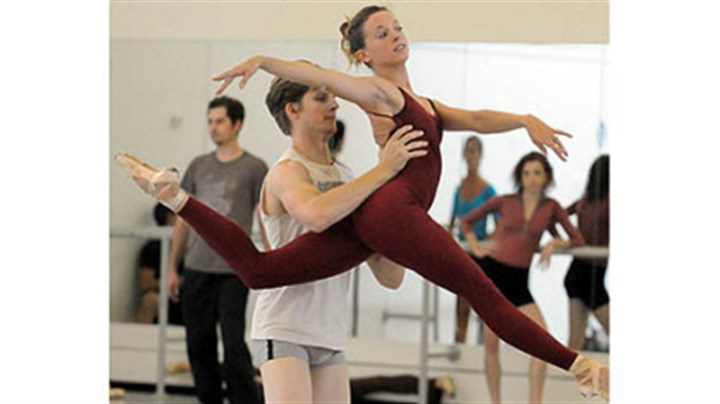 "'Step Touch' Nicholas Coppula with Alexandra Kochis in ""Step Touch."""