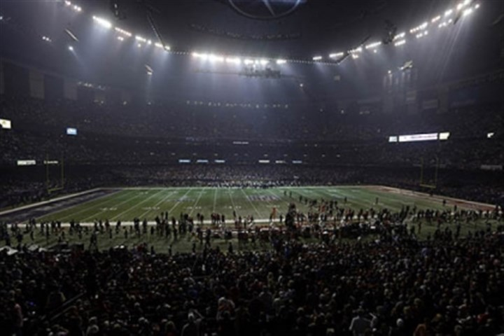 Superdome Half the lights are out in the Superdome during a power outage in the second half of Super Bowl XLVII between the San Francisco 49ers and Baltimore Ravens in New Orleans.