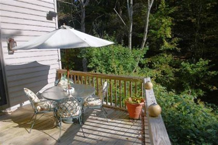 The backdeck The backdeck is great for entertaining and viewing the occassional deer.