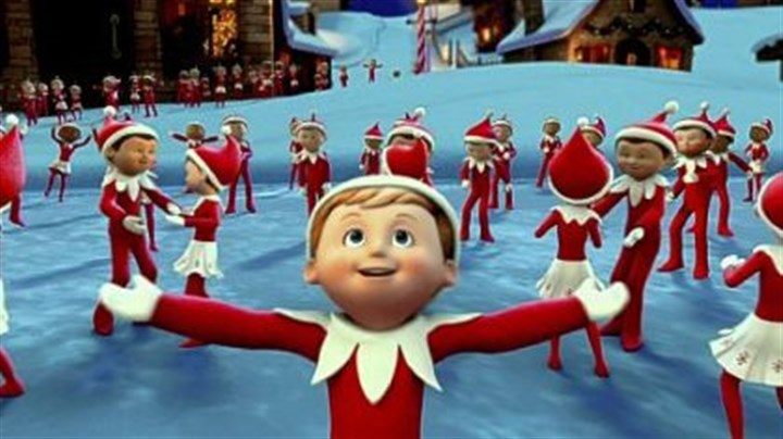 "'The Elf on the Shelf: An Elf's Story' Chippey and his fellow scout elves in the North Pole in ""The Elf on the Shelf: An Elf's Story,"" at 9:30 p.m. Dec. 14"