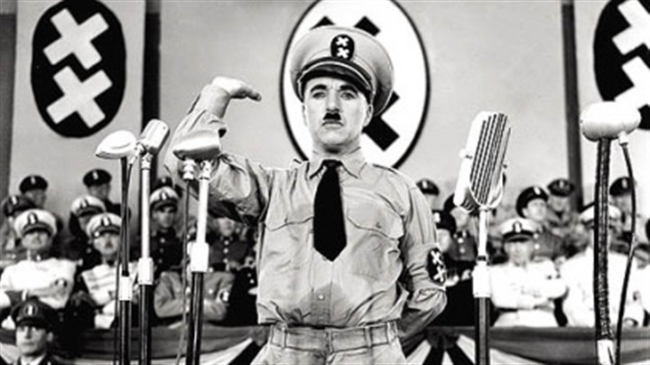 "'The Great Dictator' During the 1930s, political cartoonists and pundits had a field day with Hitler's bizarre resemblance to Chaplin. In 1940, Chaplin took his turn in the ""The Great Dictator,"" hilariously lampooning Hitler and contrasting his insanity with the Tramp's humanity."