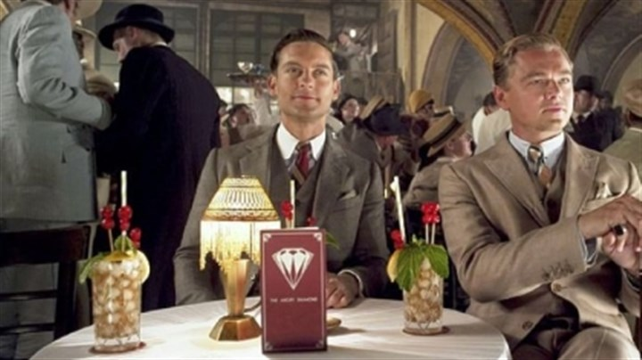 "'The Great Gatsby' Tobey Maguire and Leonardo DiCaprio in ""The Great Gatsby."""