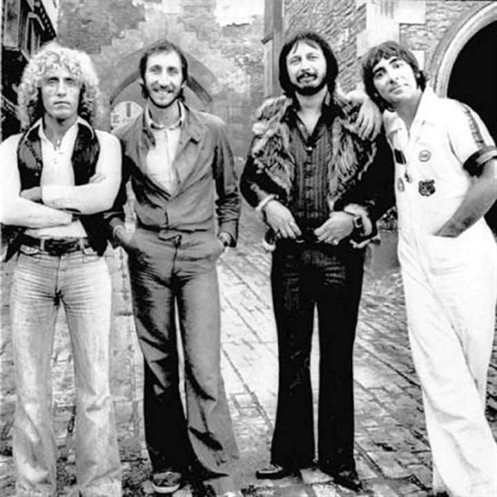 The Who Members of the rock band The Who, from left, Roger Daltrey, Pete Townshend, John Entwistle, and Keith Moon, are shown in an undated file photo.