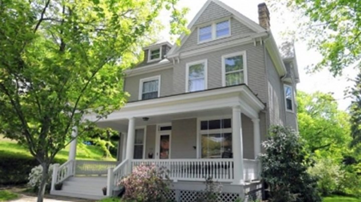 three-story Victorian This three-story Victorian in Sewickley is on the market for $490,000.