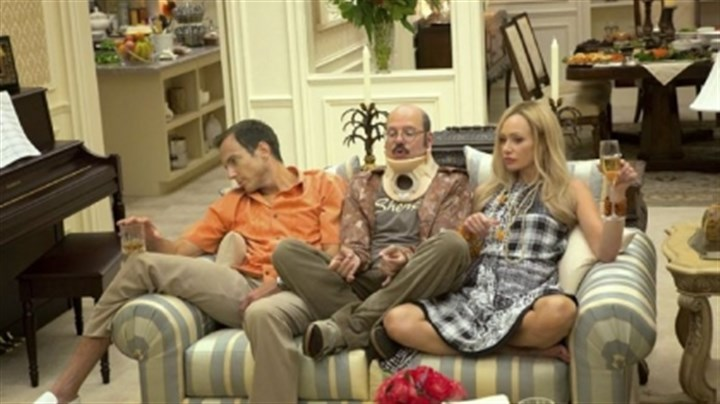 "Tuned In Will Arnett, left, David Cross and Portia de Rossi in ""Arrested Development"" on Netflix."