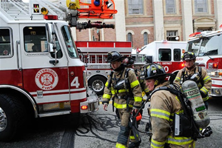 two-alarm fire Fire companies respond to a two-alarm fire at Immaculate Heart of Mary church in Polish Hill.