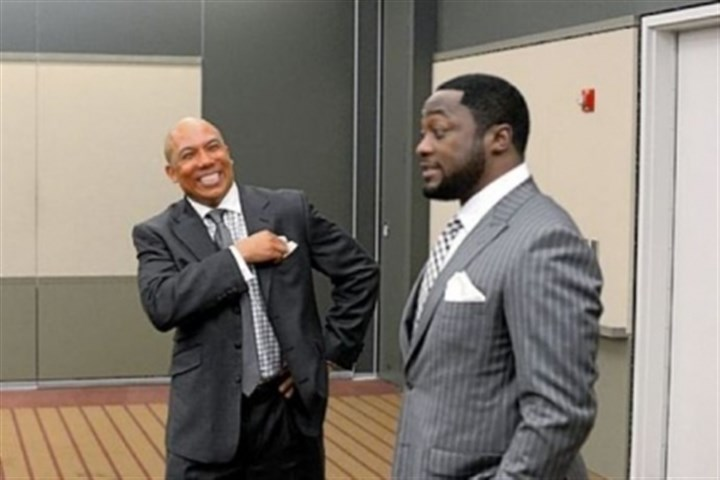 Ward Former Steeler Hines Ward and Steelers coach Mike Tomlin share a laugh during the 77th annual Dapper Dan Dinner & Sports Auction.