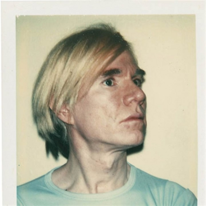 Warhol Andy Warhol, self-portrait, 1977. Unique Polacolor Type 108 print.