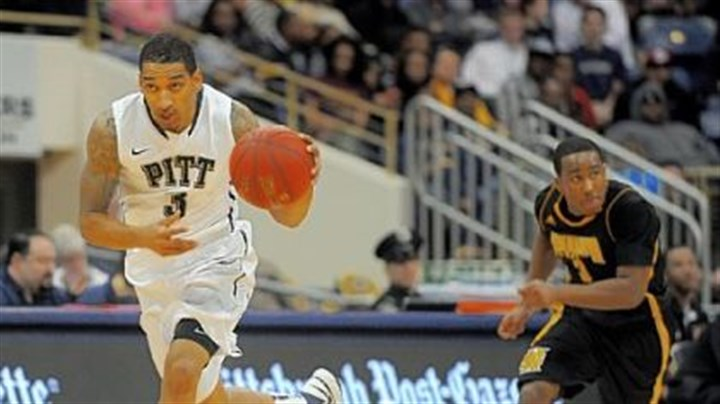 Wright.jpg Pitt's Cameron Wright heads downcourt after a steal Sunday against Kennesaw State.