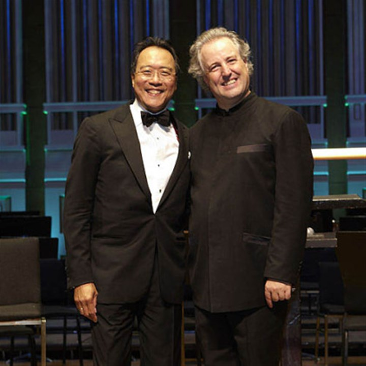 Yo-Yo Ma and Manfred Honeck. Yo-Yo Ma and Manfred Honeck.