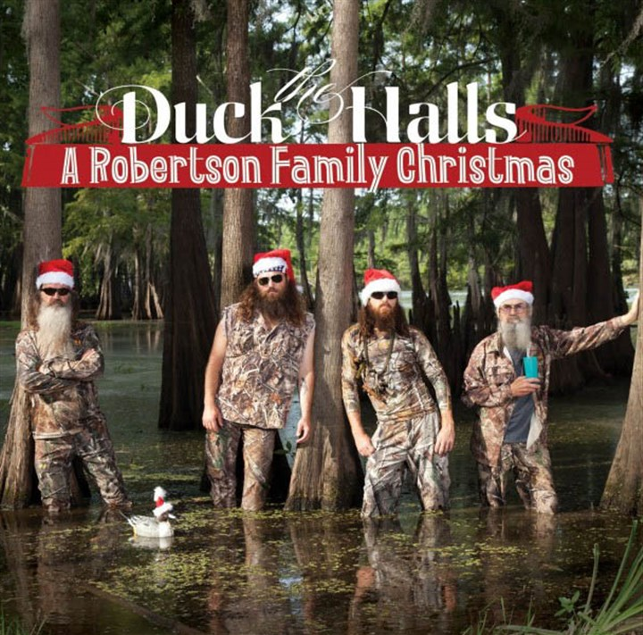 "Duck ""Duck the Halls: A Robertson Family Christmas"" holiday CD from the Robertsons of the reality TV show ""Duck Dynasty."""