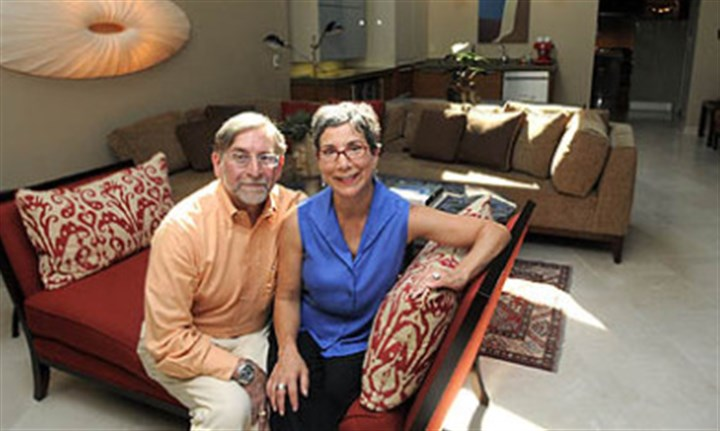 Glenn Olcerst and Barbara Talerico Glenn Olcerst and Barbara Talerico in the new addition to their North Side home.