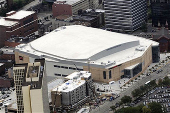 Consol Energy Center Consol Energy Center will host the 2017 Atlantic 10 men's basketball tournament.