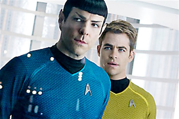"Zachary Quinto and Chris Pine  Zachary Quinto and Chris Pine reprise their roles as Spock and Kirk in ""Star Trek Into Darkness."""