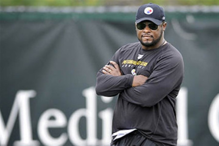 Mike Tomlin Steelers head coach Mike Tomlin watches his team.