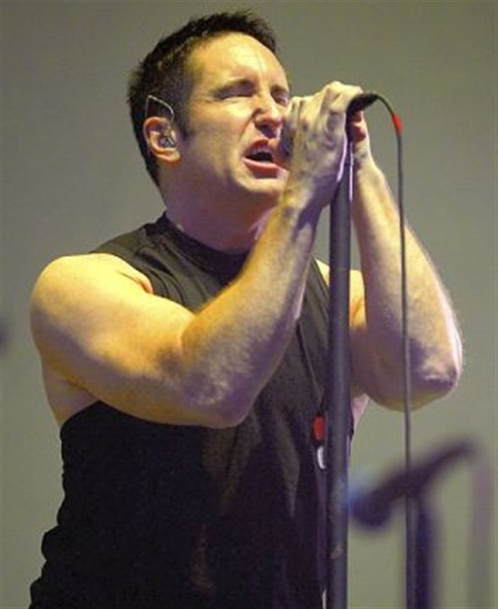 Nine Inch Nails Trent Reznor, lead singer of the Nine Inch Nails. The group is among the nominees for 2015 induction into the Rock and Roll Hall of Fame in Cleveland.