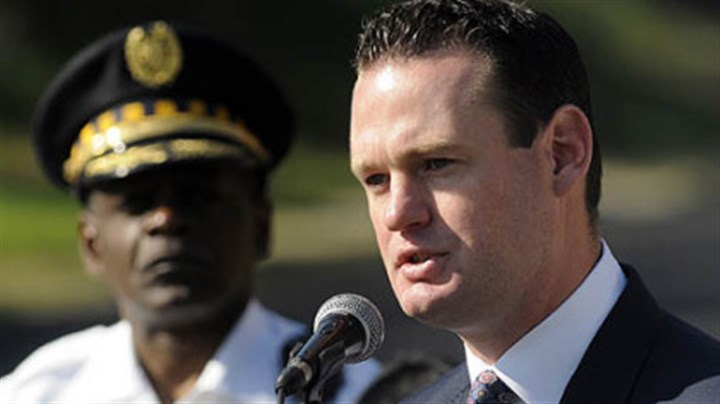 2012 Ravenstahl and Harper Pittsburgh Mayor Luke Ravenstahl and police Chief Nathan Harper in September 2012.