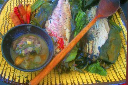 A feast of whole fish A feast of whole fish.