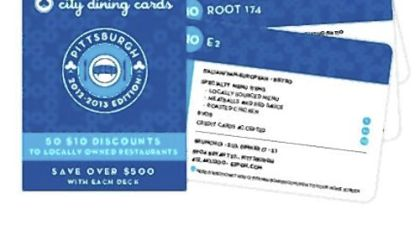 City Dining Cards City Dining Cards give $10 discounts at local restaurants.