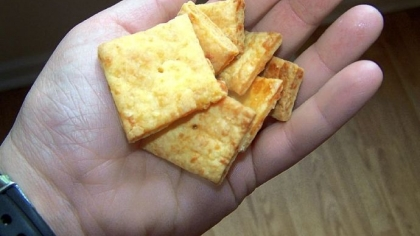"Homemade Cheez-Its Homemade Cheez-Its from Casey Barber's book, ""Classic Snacks."""