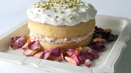 Persian Love Cake Persian Love Cake with Candied Rose Petals