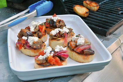 Roasted Pepper Bruschetta Roasted Pepper Bruschetta.